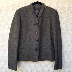 EUC Ralph Lauren Black/White Tweed Jacket Sz10